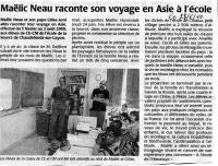 Courrier  l'Ouest 28/06/10, Andes - Asie
