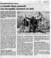 Courrier Ouest 30/05/09, Andes - Asie