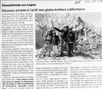 Ouest France 12/07/09, Andes - Asie