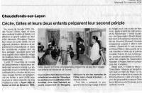 Ouest France 26/11/08, Andes - Asie